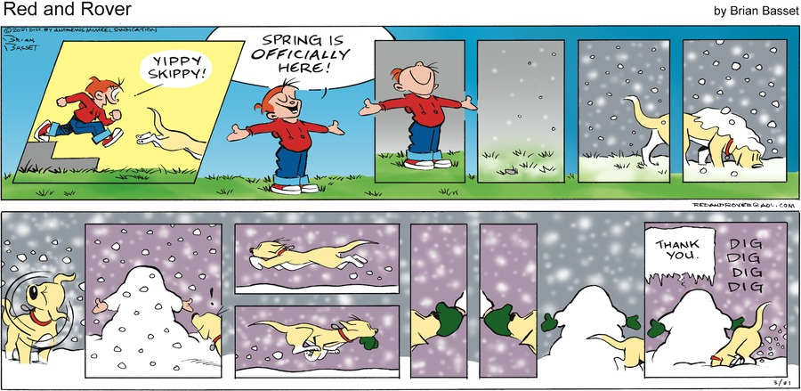 Red and Rover Comic Strip for March 21, 2021