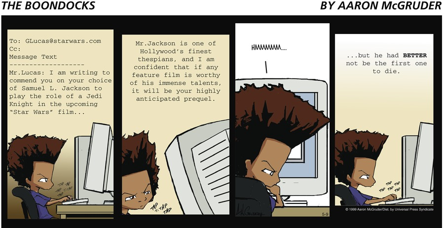 The Boondocks Comic Strip for May 09, 1999