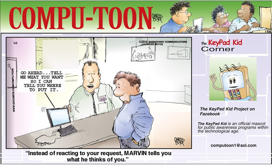 Compu-toon by Charles Boyce for March 03, 2019