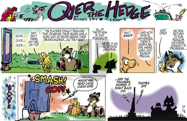 Over the Hedge on Sunday October 13, 2019 Comic Strip