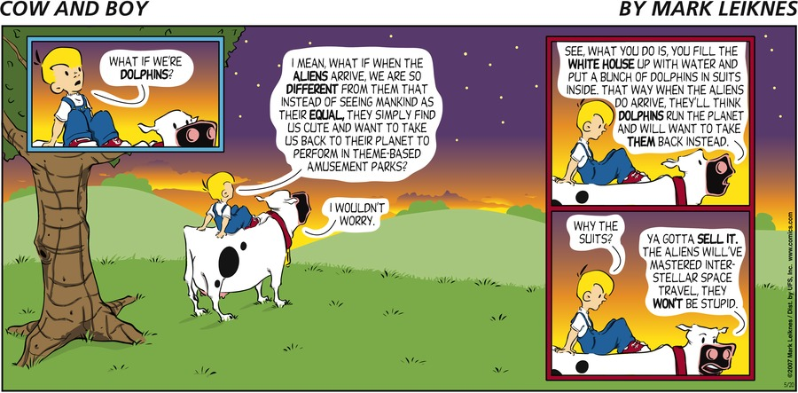 Cow and Boy Classics Comic Strip for May 20, 2007