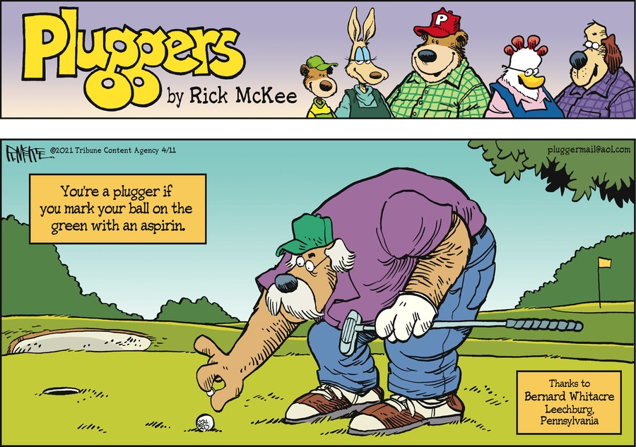 Pluggers Comic Strip for April 11, 2021