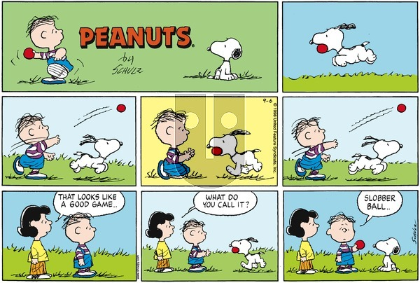 Peanuts on Sunday September 6, 1998 Comic Strip
