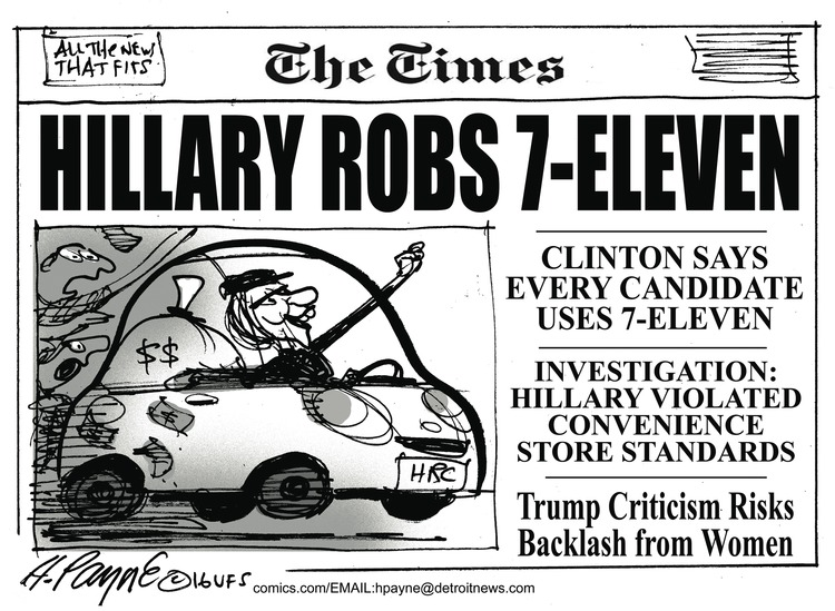 Henry Payne Comic Strip for May 29, 2016