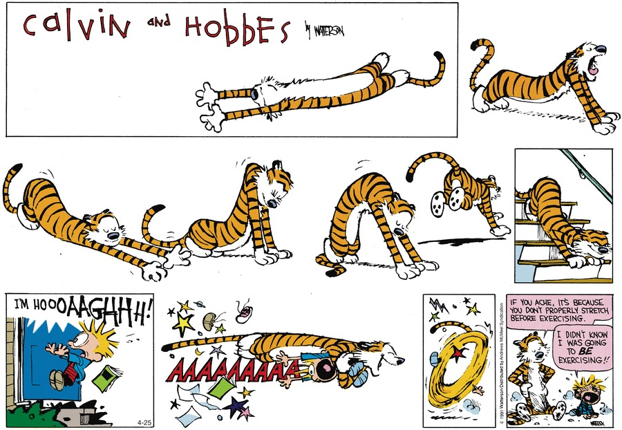 Calvin and Hobbes by Bill Watterson on Sun, 25 Apr 2021