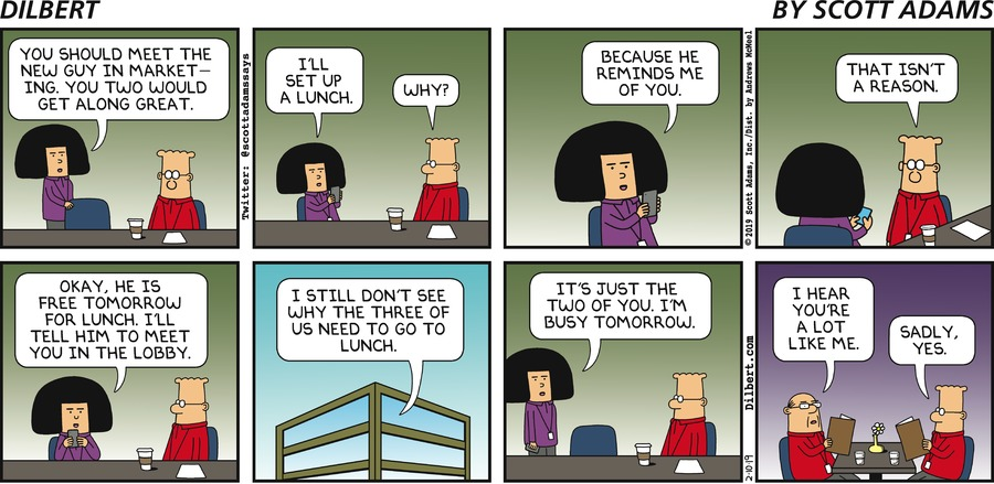 - Dilbert by Scott Adams