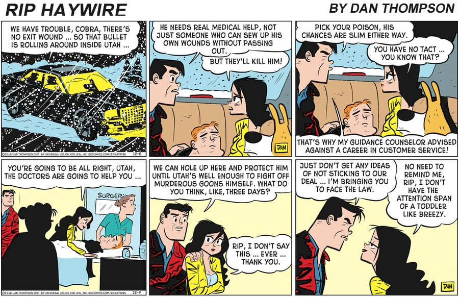Rip Haywire Comic Strip for March 01, 2020
