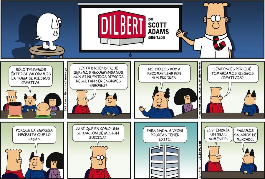 Dilbert en Español by Scott Adams on Sun, 17 Oct 2021
