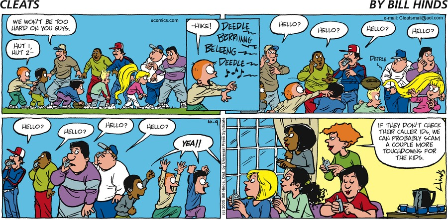 Cleats Comic Strip for October 09, 2005