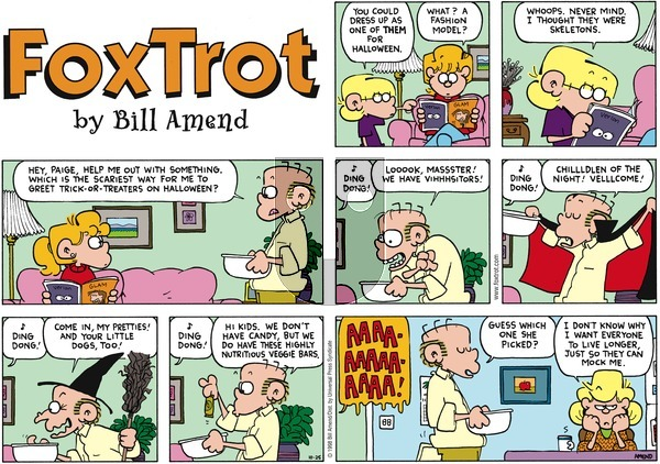 FoxTrot on Sunday October 25, 1998 Comic Strip