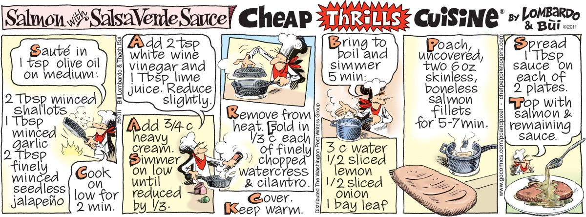 Cheap Thrills Cuisine for Nov 9, 2011 Comic Strip