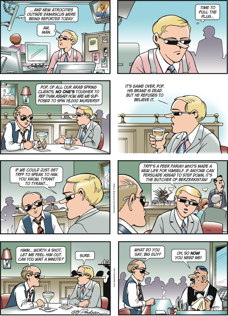 Doonesbury for Jul 14, 2013 Comic Strip