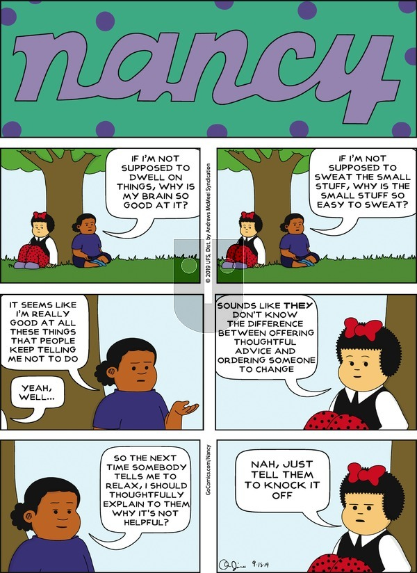 Nancy on Sunday September 15, 2019 Comic Strip