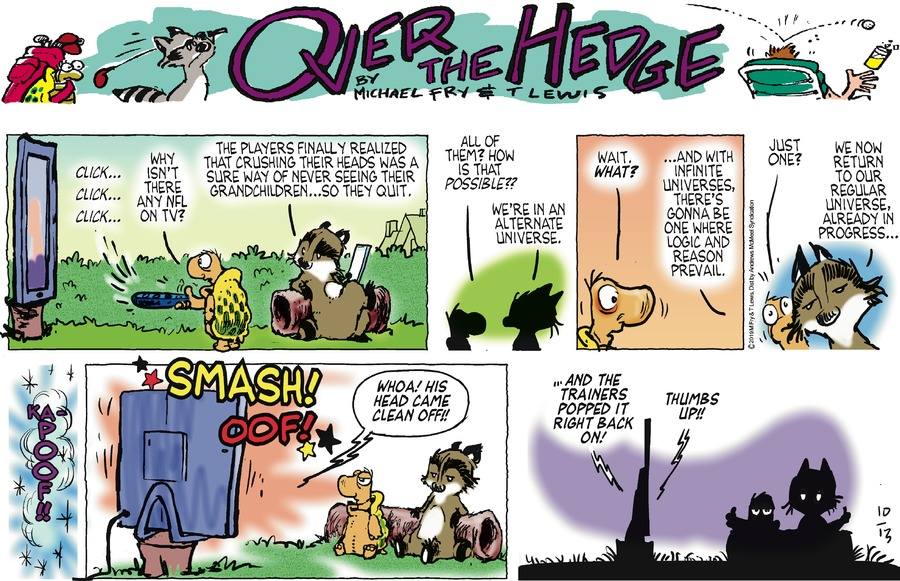 Over the Hedge Comic Strip for October 13, 2019