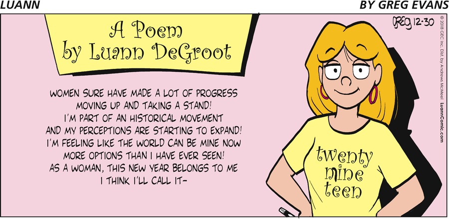 Luann Comic Strip for December 30, 2018