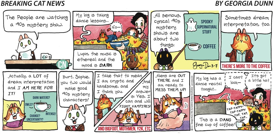 Breaking Cat News Comic Strip for March 07, 2021