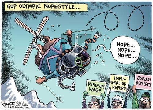 Rob Rogers on Sunday February 16, 2014 Comic Strip