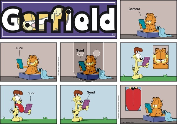 Garfield on Sunday March 15, 2020 Comic Strip