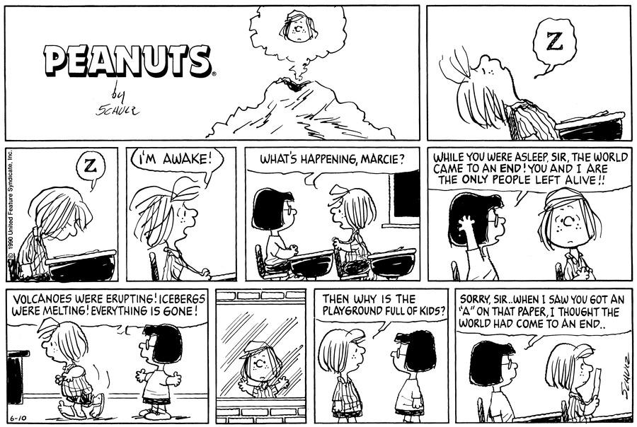Peanuts Comic Strip for June 10, 1990