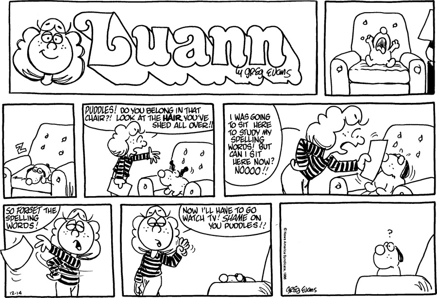 Luann Againn for Dec 14, 2014 Comic Strip