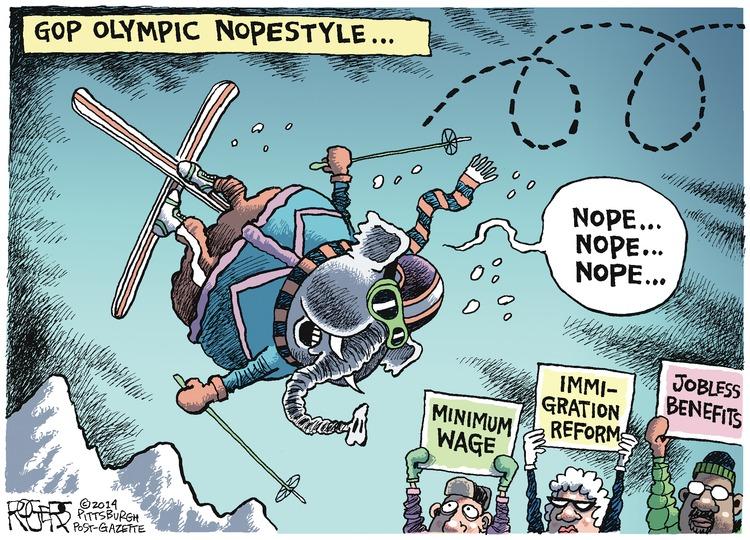Republican: Nope... nope... nope... GOP Olympic Nopestyle