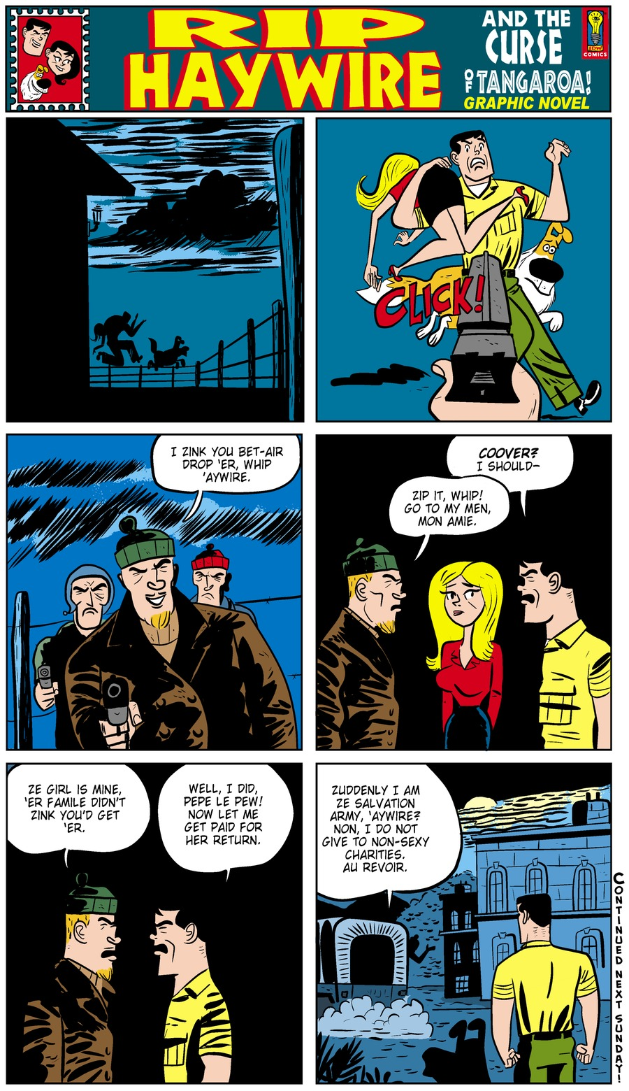 Rip Haywire Comic Strip for September 15, 2013