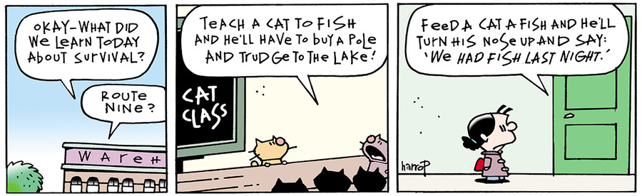 Ten Cats for Jul 27, 2013 Comic Strip