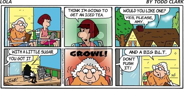Lola on Sunday July 1, 2018 Comic Strip
