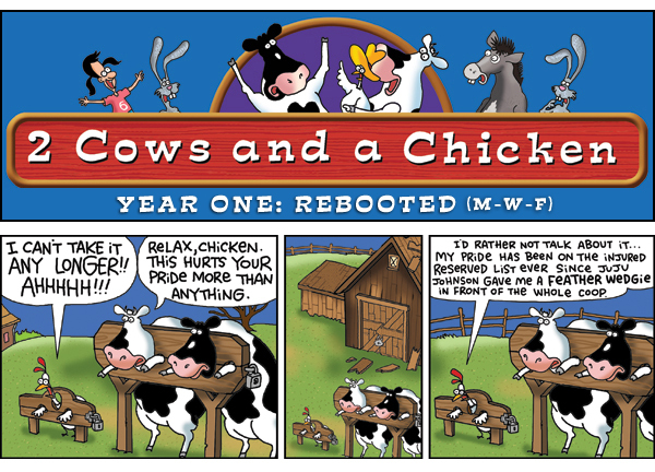 2 Cows and a Chicken for May 17, 2013 Comic Strip