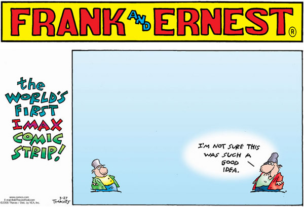 Frank and Ernest Comic Strip for March 27, 2005