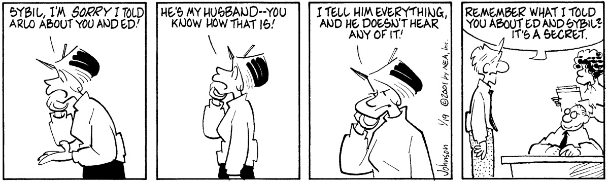 Arlo and Janis Comic Strip for January 19, 2001