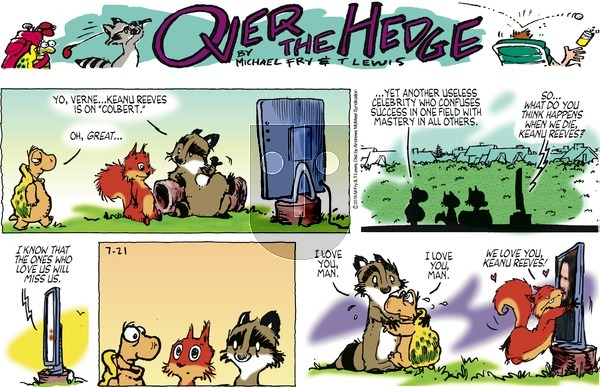 Over the Hedge on Sunday July 21, 2019 Comic Strip