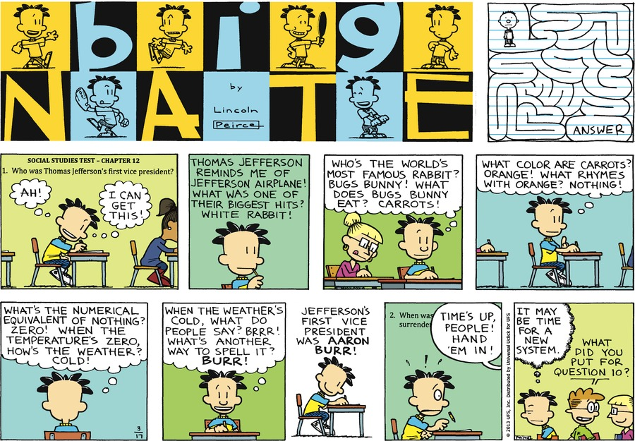 Big Nate Comic Strip for March 17, 2013