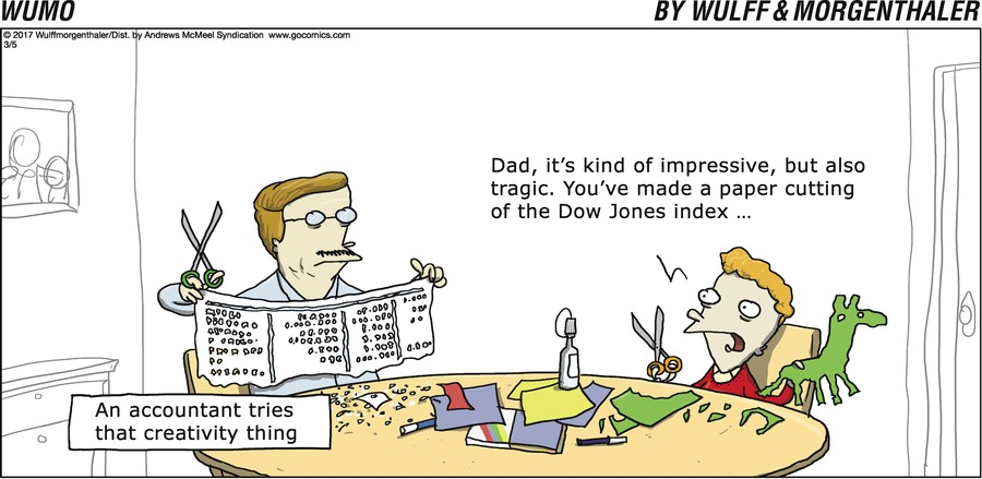 An accountant tries that creativity thing