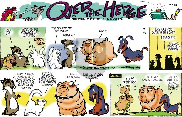 Over the Hedge on Sunday September 13, 2015 Comic Strip