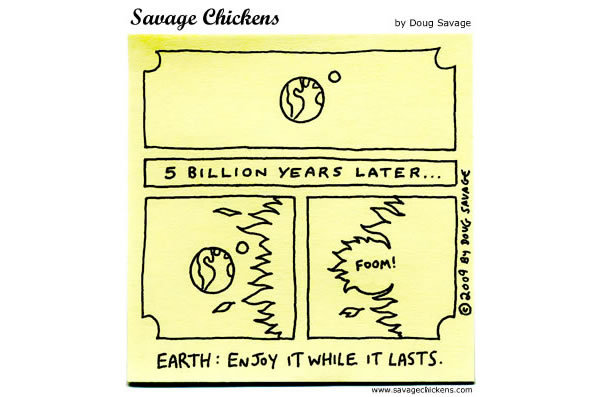 Savage Chickens for Apr 22, 2013 Comic Strip