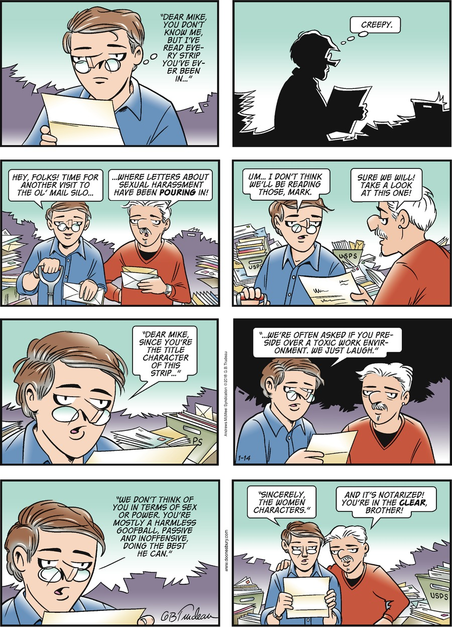 Doonesbury Comic Strip for January 14, 2018