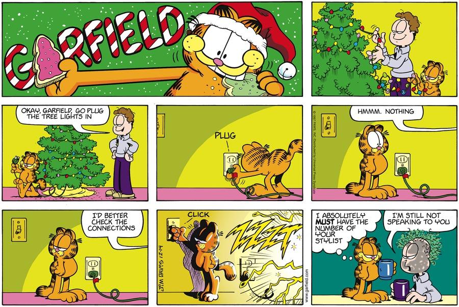 Garfield Comic Strip for December 14, 1997