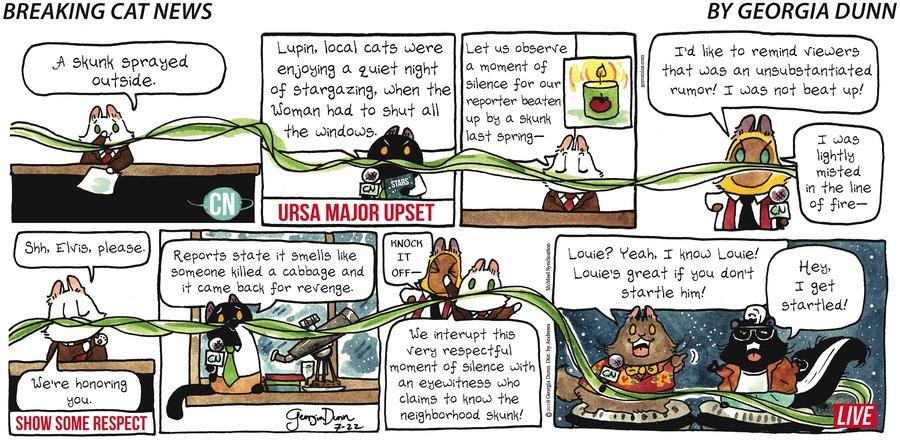 Breaking Cat News for Jul 22, 2018 Comic Strip
