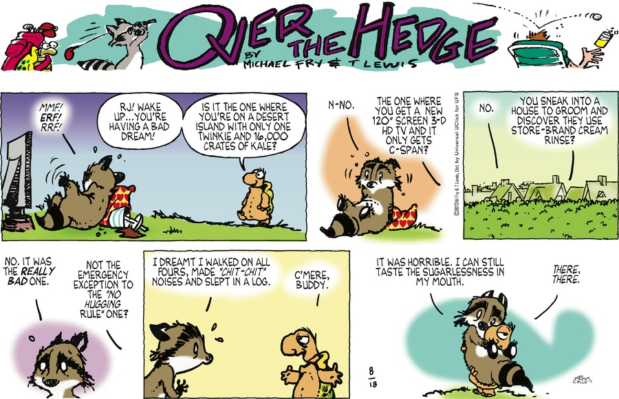 Over the Hedge for Aug 18, 2013 Comic Strip