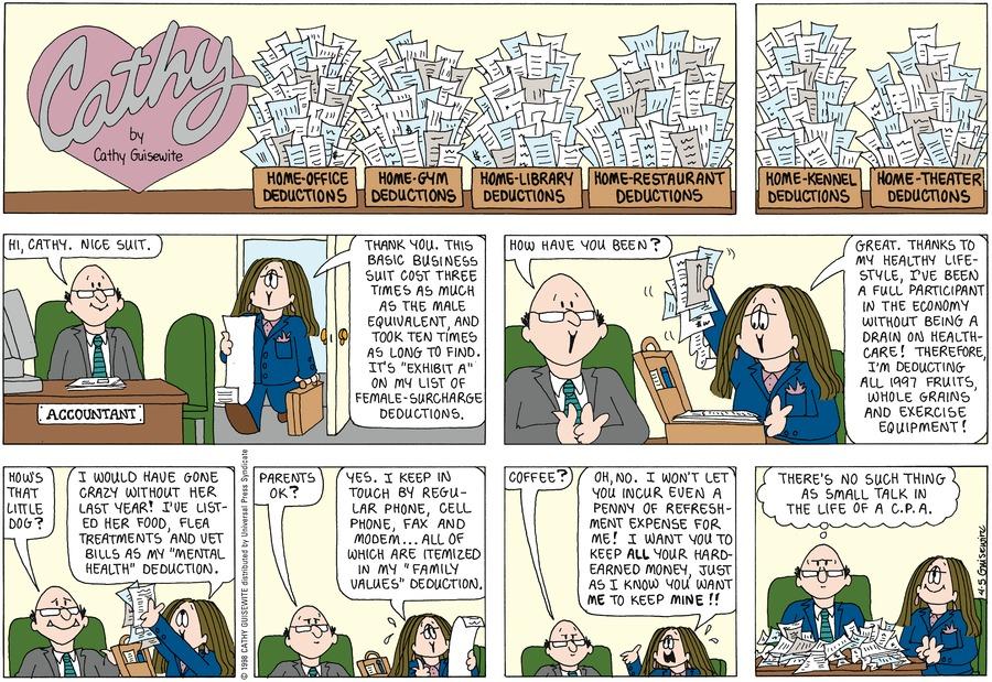 Cathy for Apr 5, 1998 Comic Strip