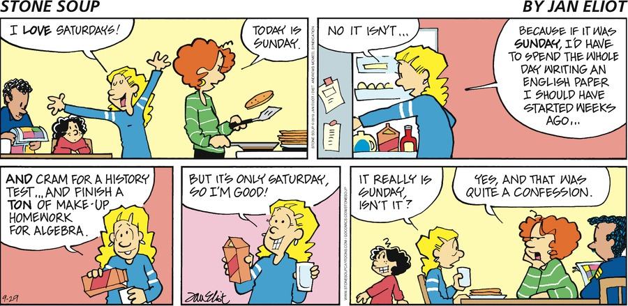 Stone Soup Comic Strip for September 29, 2019