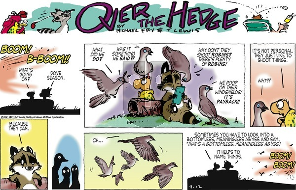 Over the Hedge on Sunday September 12, 2021 Comic Strip