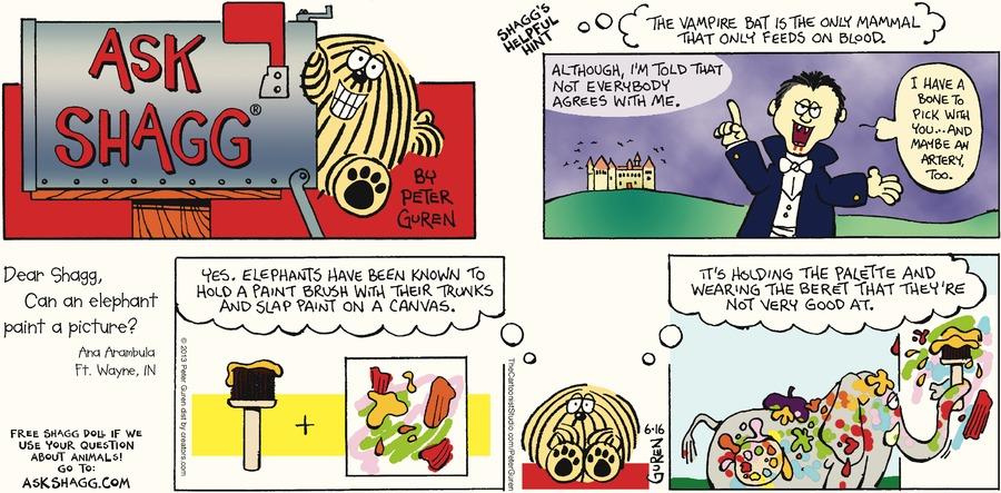 Ask Shagg for Jun 16, 2013 Comic Strip