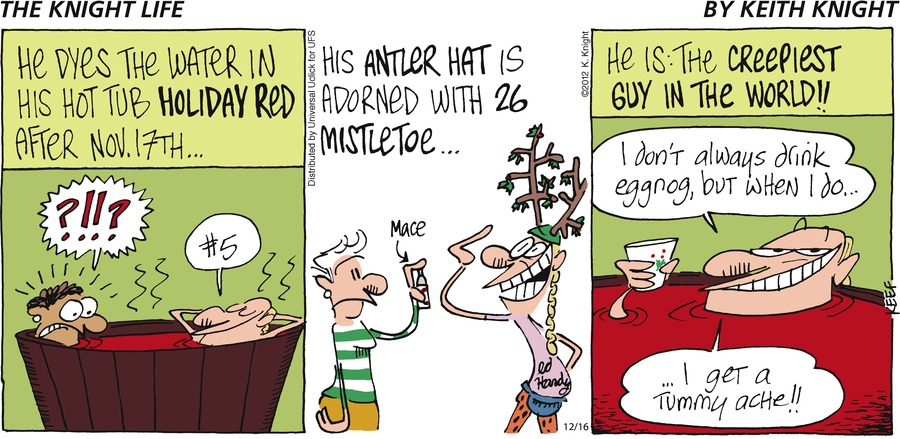 The Knight Life for Dec 16, 2012 Comic Strip
