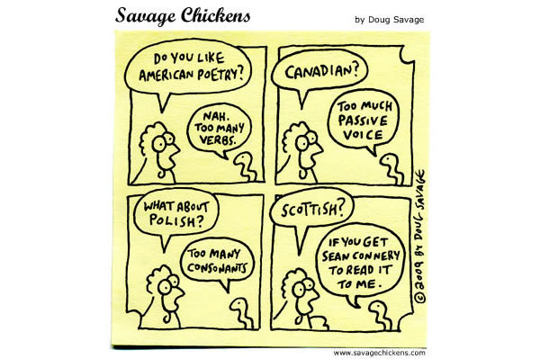 Savage Chickens Comic Strip for April 25, 2013