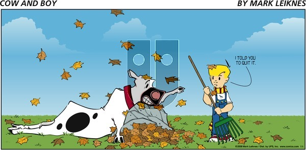 Cow and Boy Classics - Sunday November 16, 2008 Comic Strip