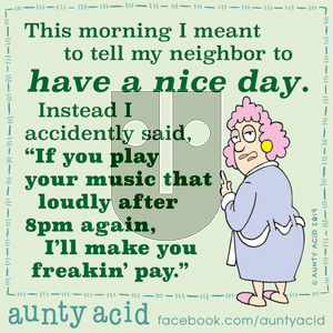 Aunty Acid on Thursday October 10, 2019 Comic Strip