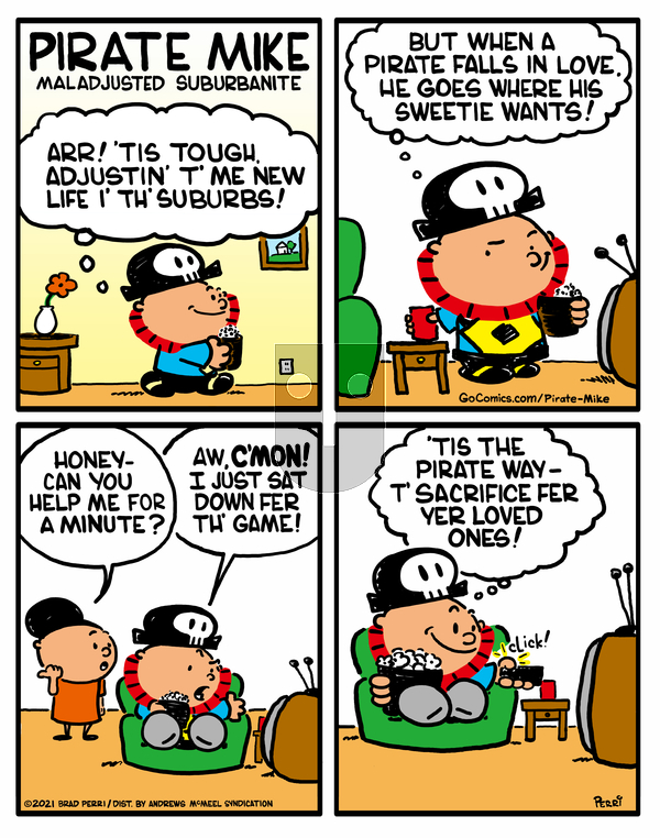 Pirate Mike on Friday April 23, 2021 Comic Strip