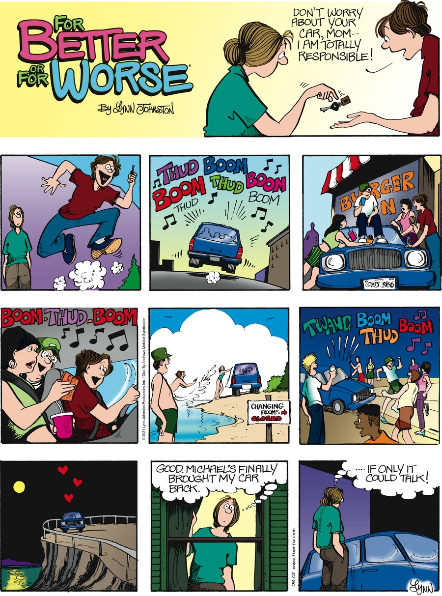 For Better or For Worse Comic Strip for August 01, 2021